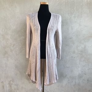 [Ny collection] knit open cardigan